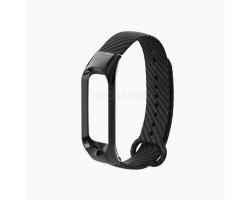"""Ремешок - carbon для """"Xiaomi Mi Band 4"""" силиконовый (black)"""