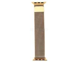 """Ремешок - для """"Apple Watch 38/40 mm"""" миланский сетчатый браслет (gold)"""