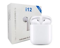 Беспроводные наушники Bluetooth i12 (TWS, вкладыши) Белый