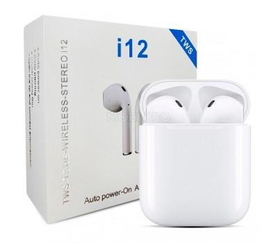 Беспроводные наушники Bluetooth i12 ( TWS ) Белый