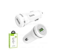Автомобильное зарядное устройство USB Hoco Z27A (3A, QC 3.0) Белый