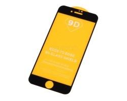 """Защитное стекло """"Плоское"""" для iPhone 7/8/SE (2020) Черное"""