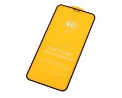 """Защитное стекло """"Плоское"""" для iPhone Xr/11 Черное"""