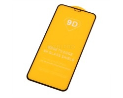 """Защитное стекло """"Плоское"""" для iPhone X/Xs/11 Pro Черное"""