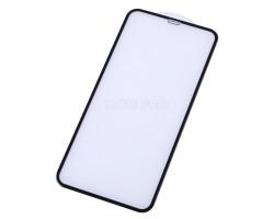 """Защитное стекло """"Оптима"""" для iPhone Xs Max/11 Pro Max Черное (Закалённое, полное покрытие)"""