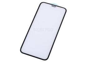 """Защитное стекло """"Оптима"""" для iPhone Xr/11 Черное (Закалённое, полное покрытие)"""