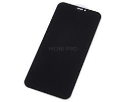 """Защитное стекло """"Антишпион"""" для iPhone Xr/11 Черное (Закалённое, полное покрытие)"""