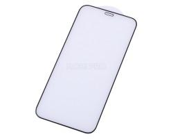 """Защитное стекло """"Премиум"""" для iPhone 12 mini Черное (Закалённое+, полное покрытие)"""