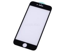 """Защитное стекло """"Стандарт"""" для iPhone 6/6S Черное (Полное покрытие)"""