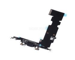 Шлейф для iPhone 8 Plus на системный разъем/микрофон Черный
