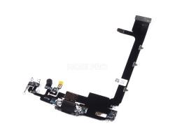 Шлейф для iPhone 11 Pro Max на системный разъём/микрофон Черный Премиум