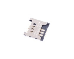 Коннектор SIM для Samsung C3322/C3350/C3530/C3752/E2222/C3520/C3782/E1182/E1200/i9250/S6102/S6802